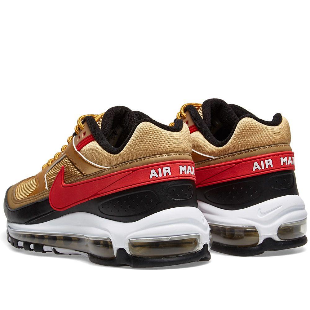 e4a9d7119de91 Nike Air Max 97 BW Metallic Gold   University Red