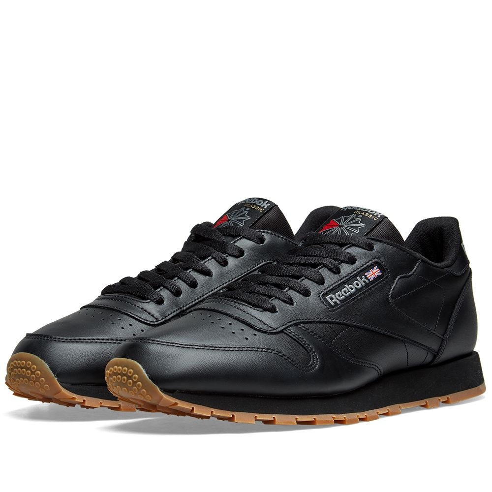 Reebok Classic Leather Black   Gum  db864f3e3