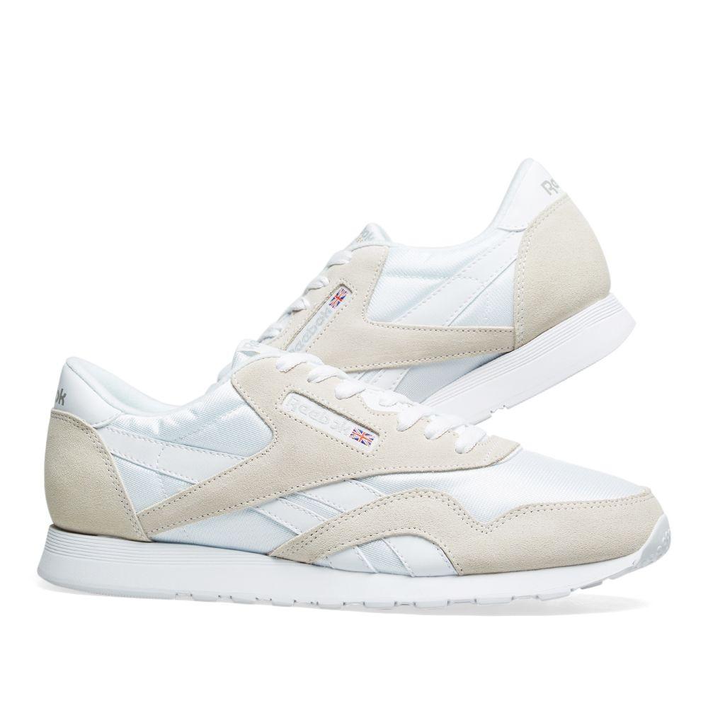 e1f175d91a9 Reebok Classic Nylon OG White   Light Grey
