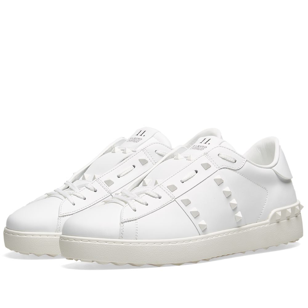 98c2928d4735 Valentino Rockstud Untitled Open Low Top Sneaker White