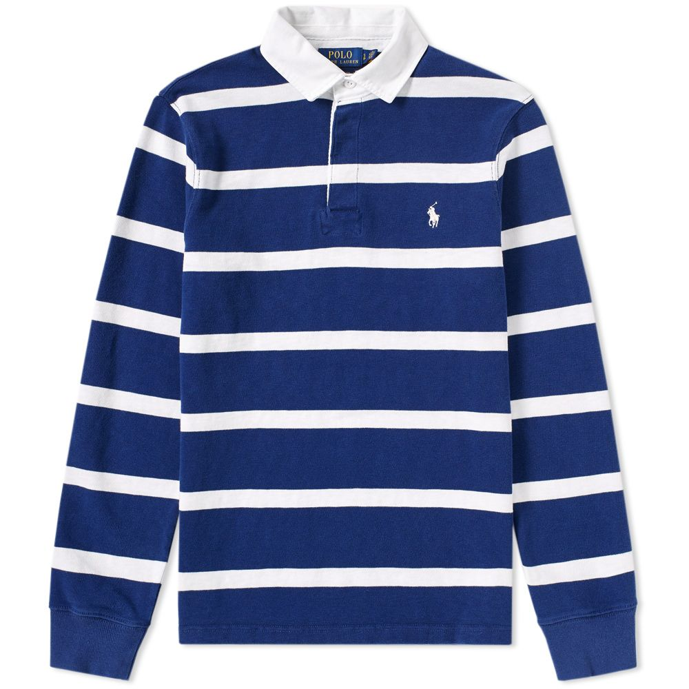 ce19fab148791 Polo Ralph Lauren Stripe Rugby Shirt Holiday Navy   White