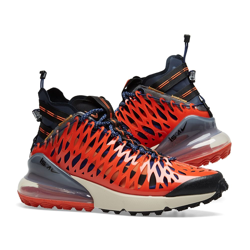 0c55567b1d8 Nike Air Max 270 ISPA Blue Void & Terra Orange | END.