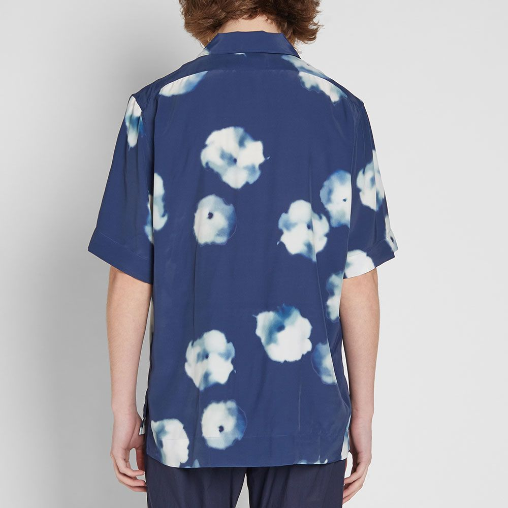ae55723aca Acne Studios Short Sleeve Elms Print Vacation Shirt Indigo Blue