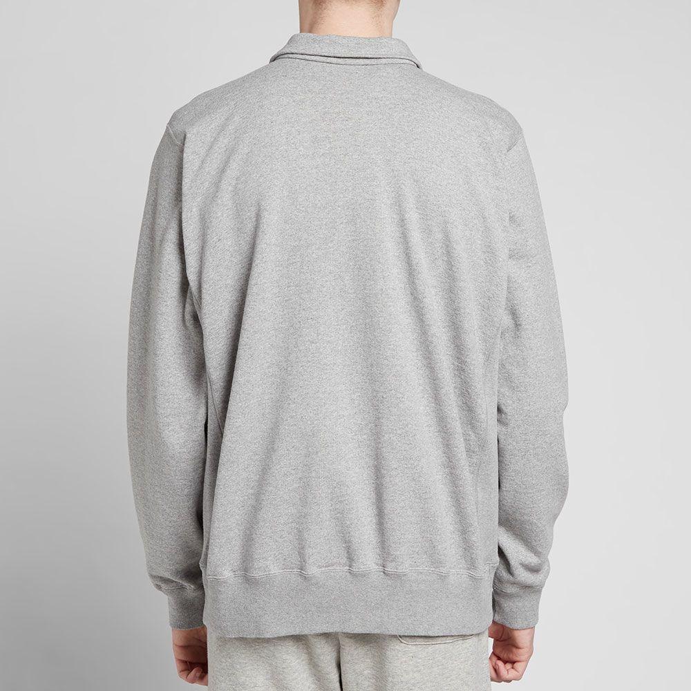 9250417b2b118 Human Made Half Zip Sweat Grey