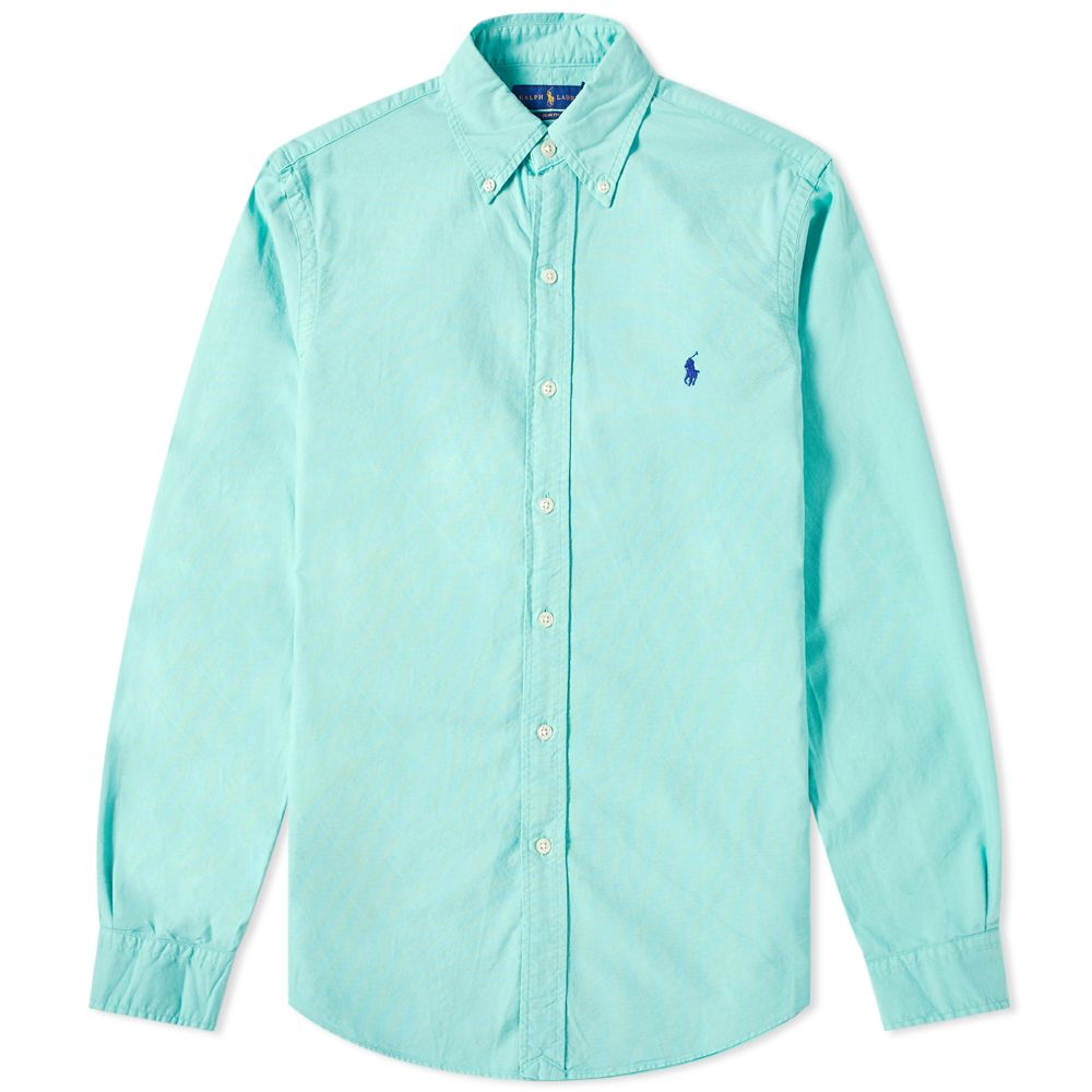 269fa926b0f homePolo Ralph Lauren Slim Fit Garment Dyed Button Down Oxford Shirt.  image. image. image. image. image. image. image