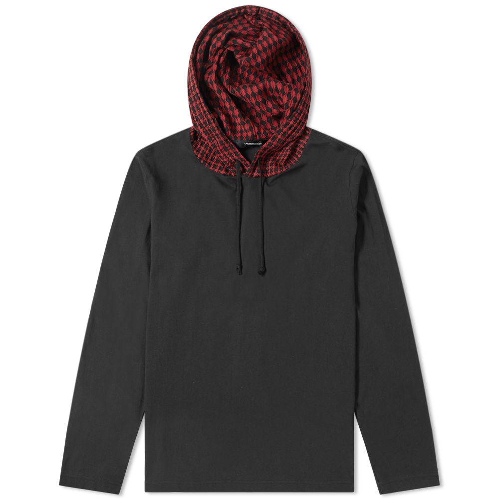 Undercover Checked Hood Popover Hoody by Undercover