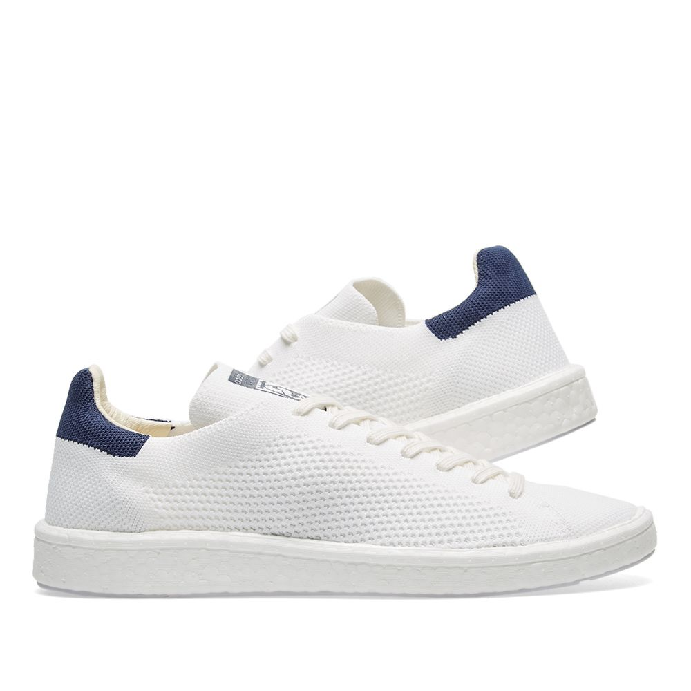 41f9f1874e5 Adidas Stan Smith Boost PK White   Collegiate Navy