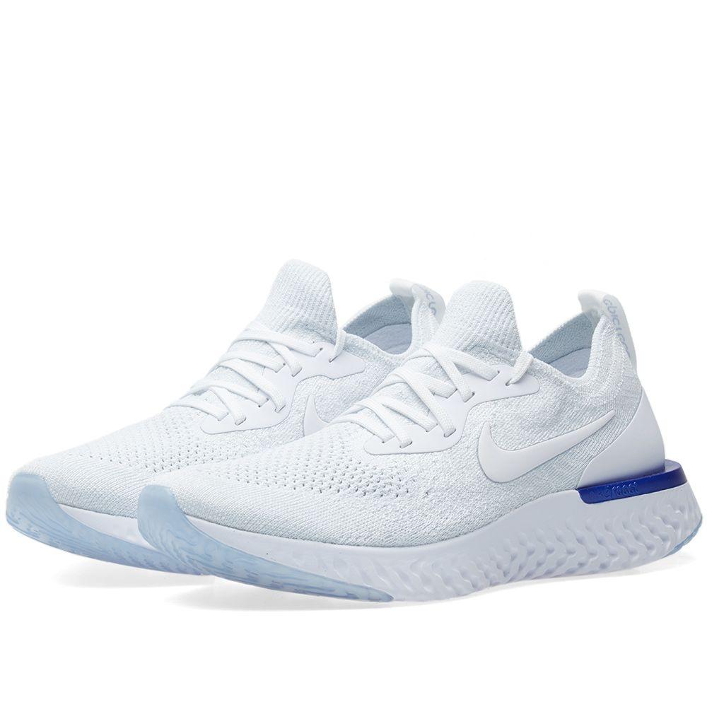 94156643fbdc Nike Epic React Flyknit W White   Racer Blue