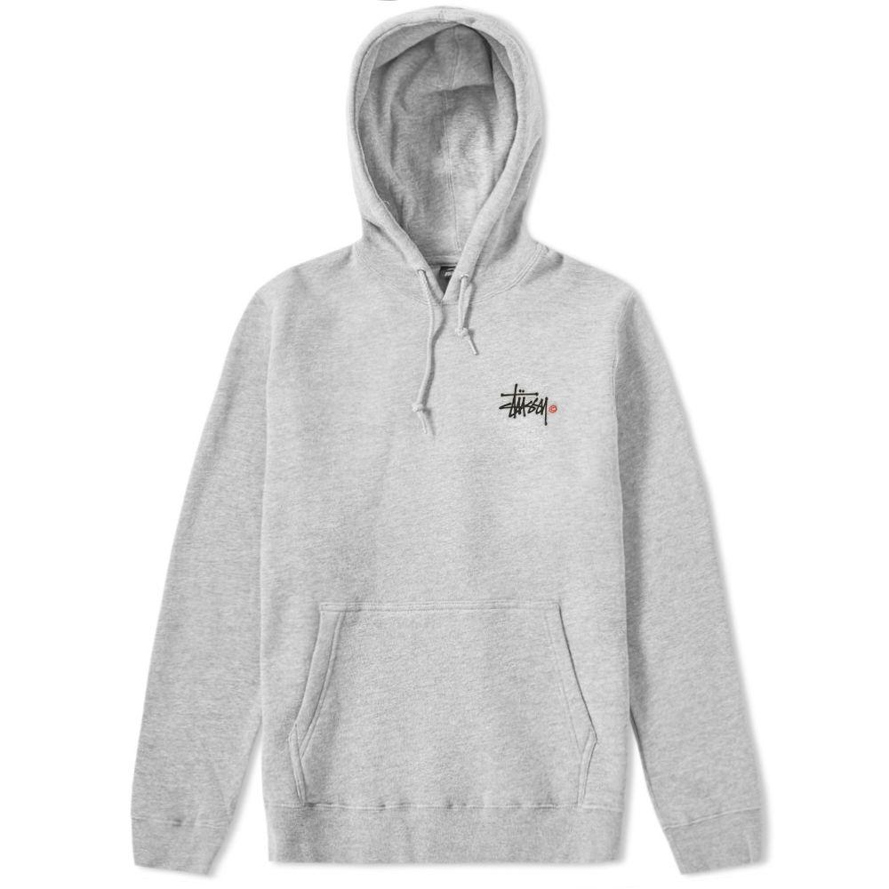 b719913a3c Stussy Basic Logo Hoody Grey Heather