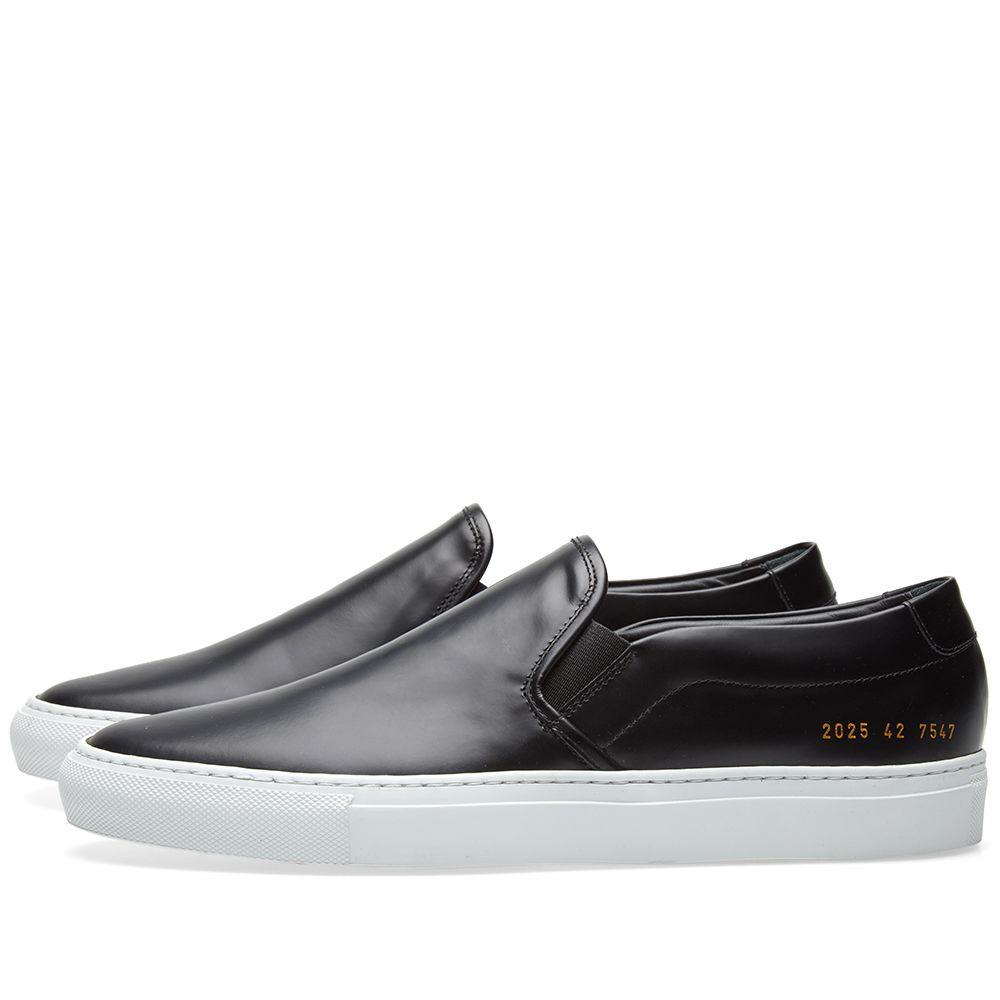 6d94c211f257c Common Projects Slip On Leather Black