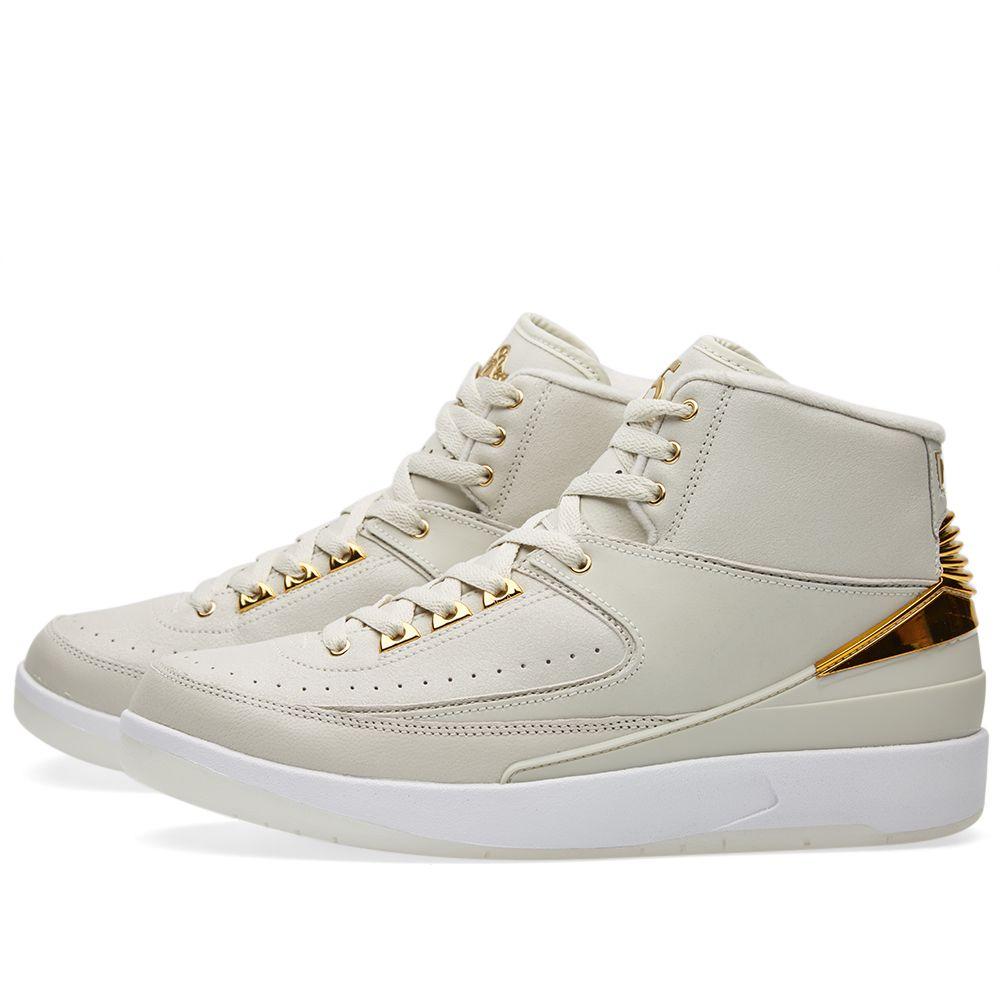 Nike Air Jordan 2 Retro Q54 Light Bone   Metallic Gold  8a7a08cfa
