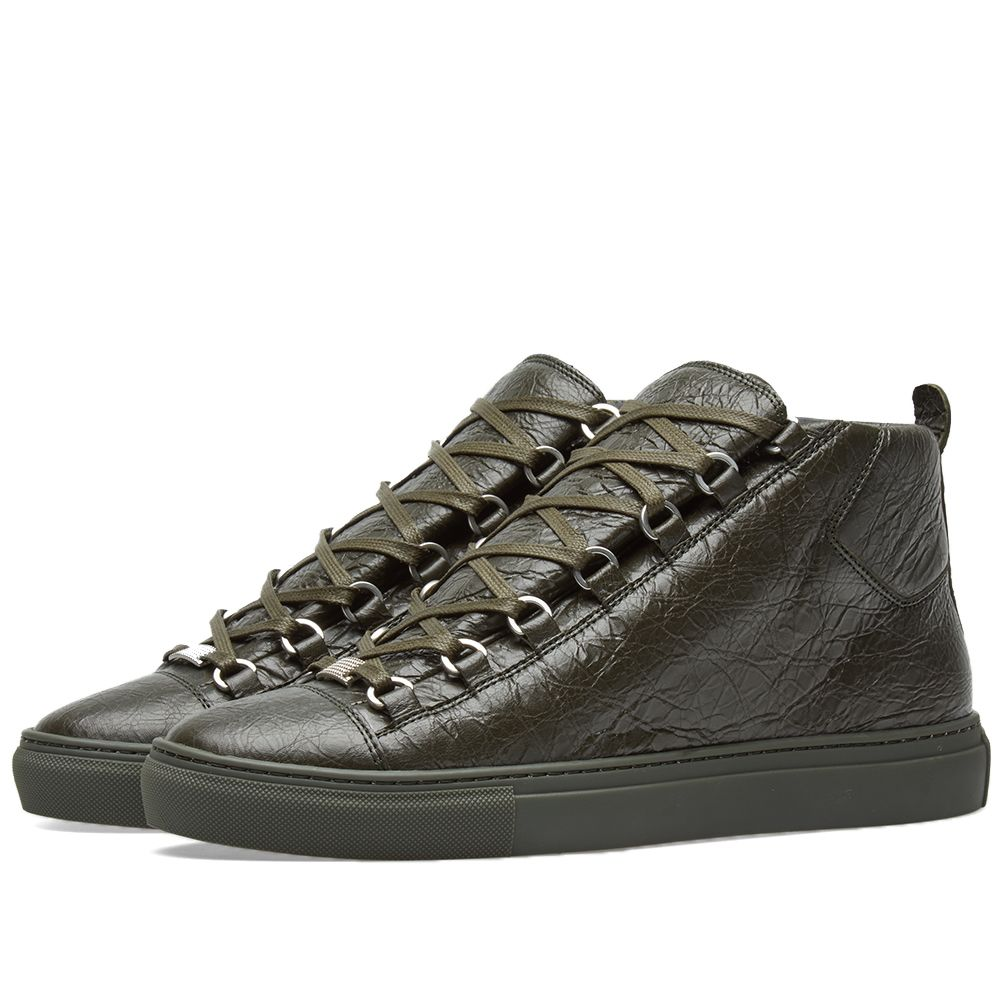 1e61f9e31224 Balenciaga Arena Leather High Sneaker Khaki