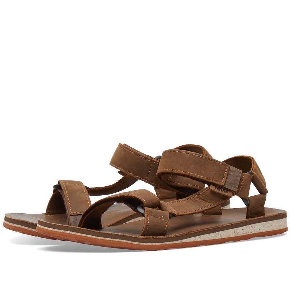 d10ad182aad Teva Original Universal Premium Leather Sandal Dark Earth