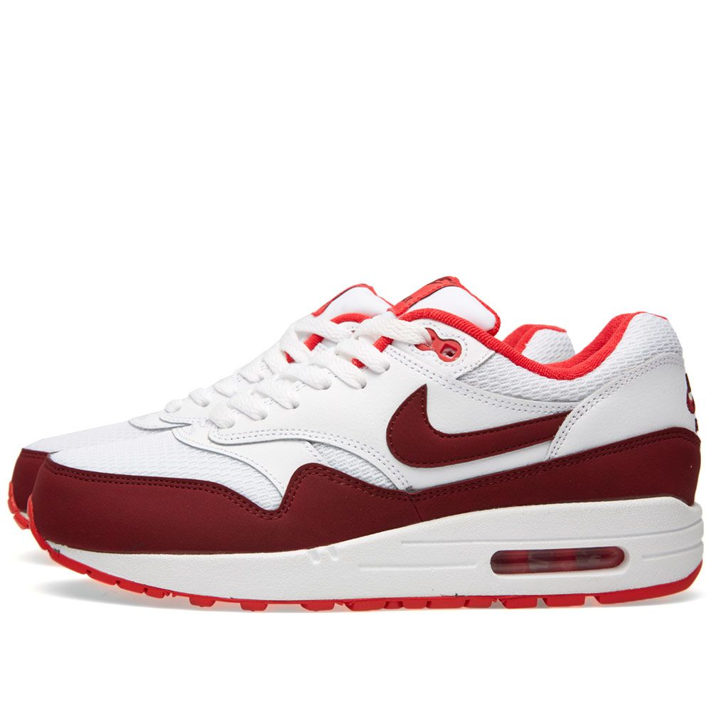big sale f687f a73e8 Nike Air Max 1 Essential. White, Team Red ...
