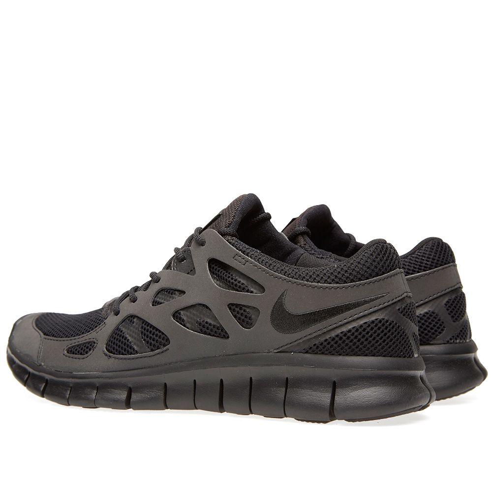 new product f3e71 9acf0 Nike Free Run 2 Black   Metallic Silver   END.