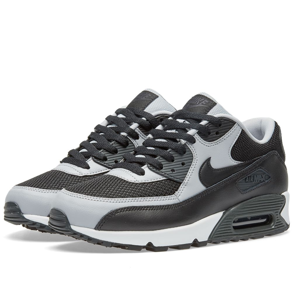 best sneakers 1414a eaa0e Nike Air Max 90 Essential 537384-053 Black   Grey   Anthracite Mens 7.5-13