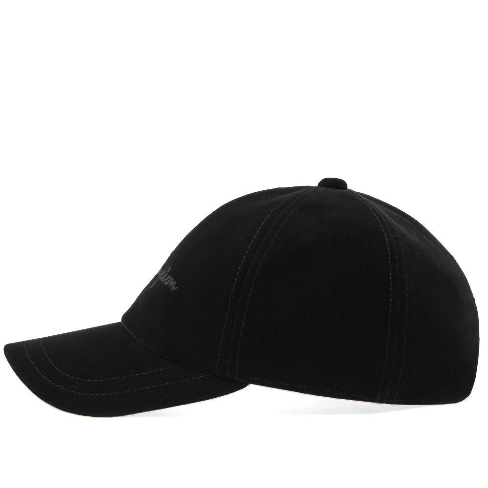 Champion Reverse Weave Script Logo Velour Baseball Cap Black  626e5a45a007