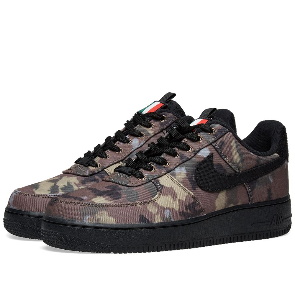 hot sale online 778b4 a70fc Nike Air Force 1 07 WE Camo Pack Italy Ale Brown, Black  Kha