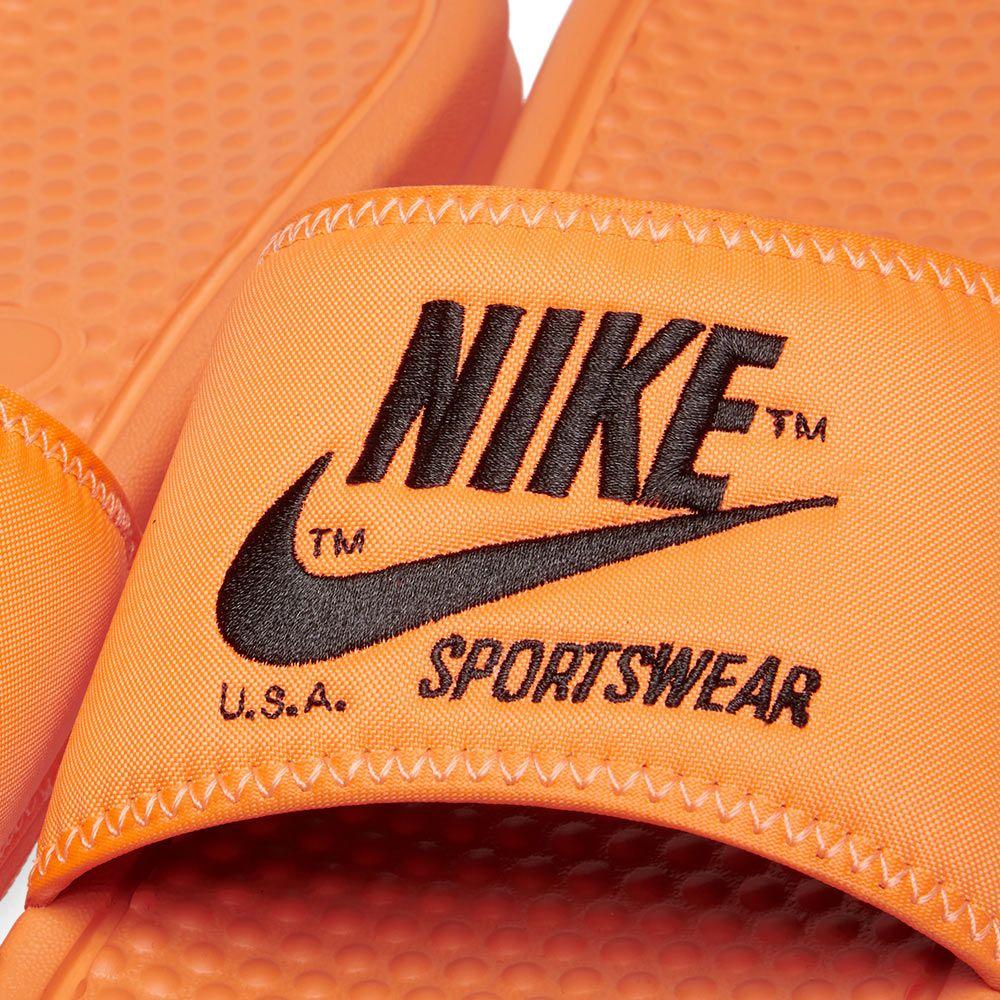 6eb5d923cf7d Nike Benassi JDI TXT SE Total Orange   Black