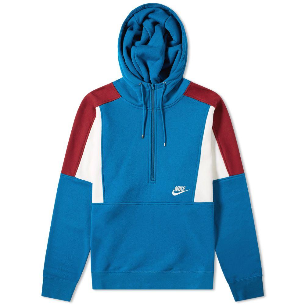 c709266397ba Nike Re-Issue Half Zip Fleece Hoody Blue Abyss