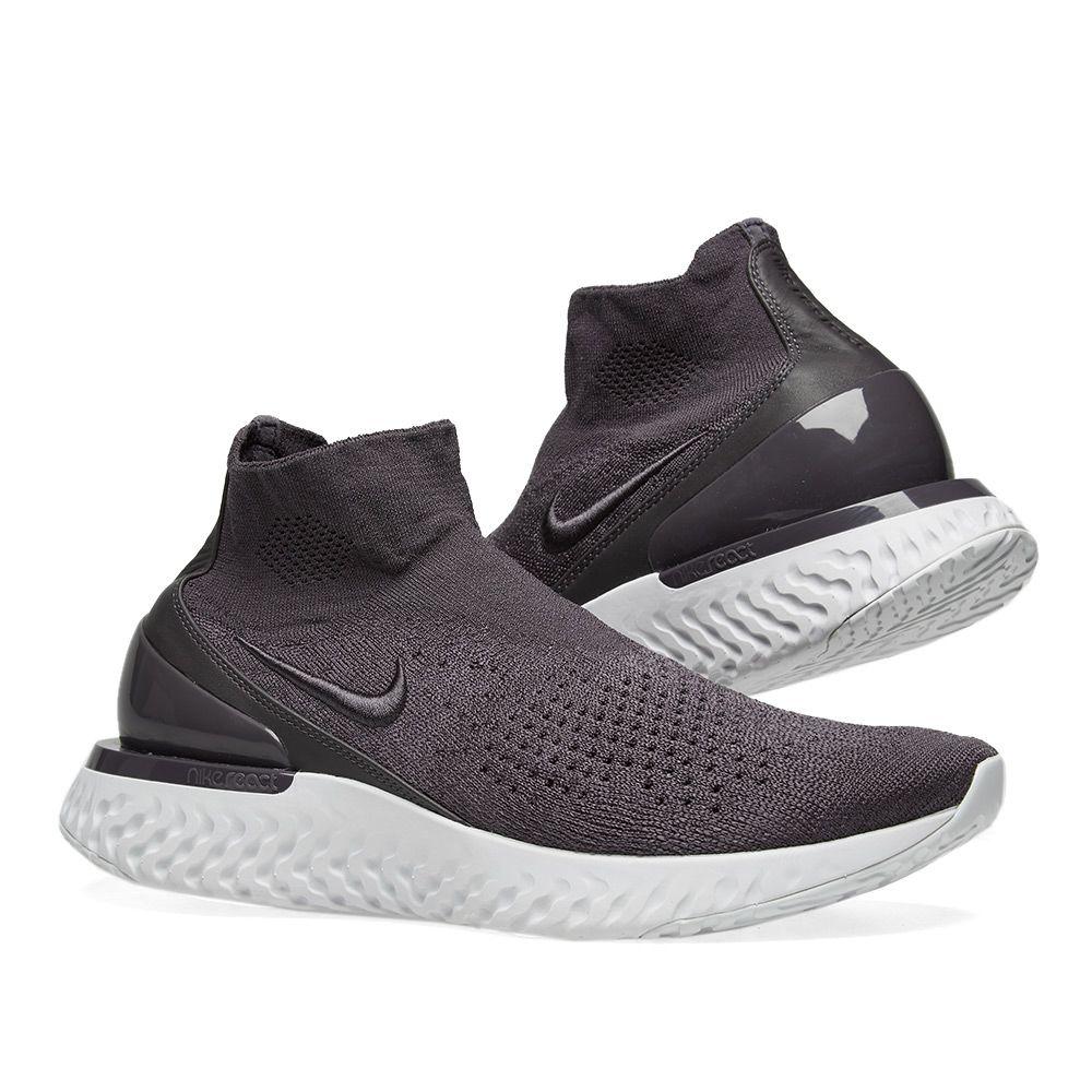 4dcd90f12f7f Nike Rise React Flyknit Thunder Grey   Off White