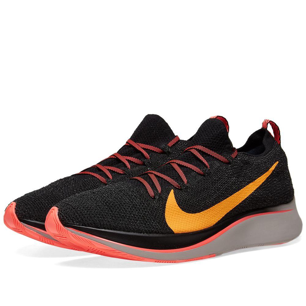 buy popular 639bd 1b94b Nike Zoom Fly Flyknit Black, Crimson  Orange  END.