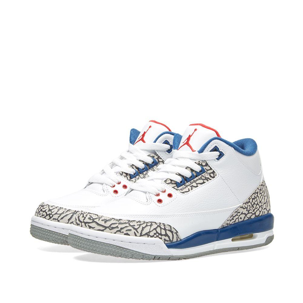 the best attitude ecd28 b670e Nike Air Jordan 3 Retro OG BG White, Fire Red  True Blue  EN