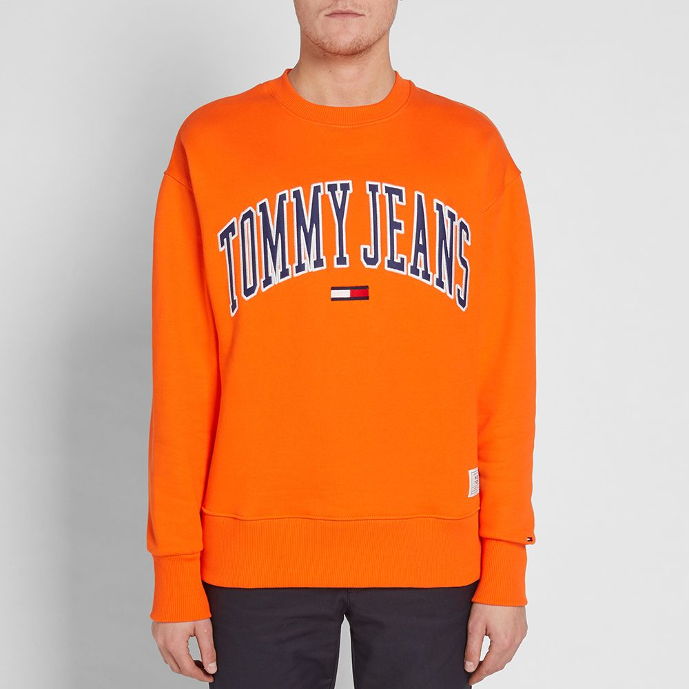 a3f92155 Tommy Jeans Collegiate Crew Sweat Orangeade | END.