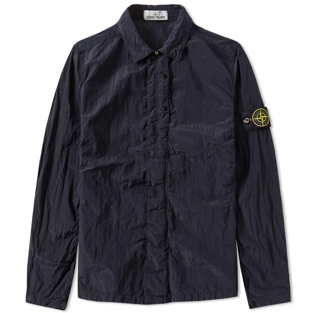 6e33460ff4 Stone Island Nylon Metal Shirt Jacket Navy