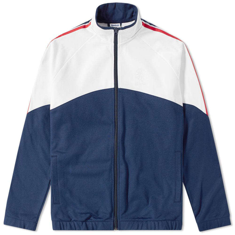 ad735ce18bc Reebok Franchise Track Top Collegiate Navy