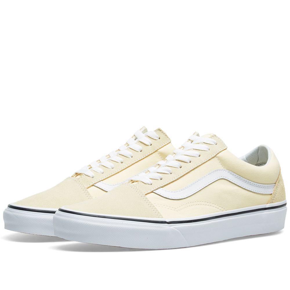 e1f3f89b6829 Vans UA Old Skool Vanilla Custard   True White