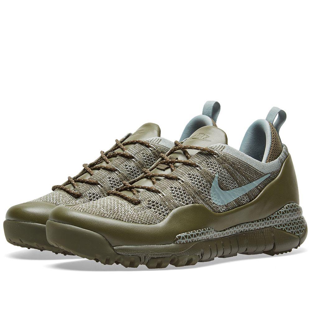 045764197ab4 Nike Lupinek Flyknit Low Cargo Khaki   Mica Green