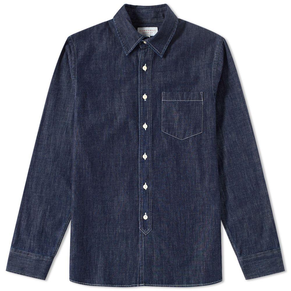 6f980f1adb Hawksmill Denim Co. Japanese Chambray Shirt Dark Indigo