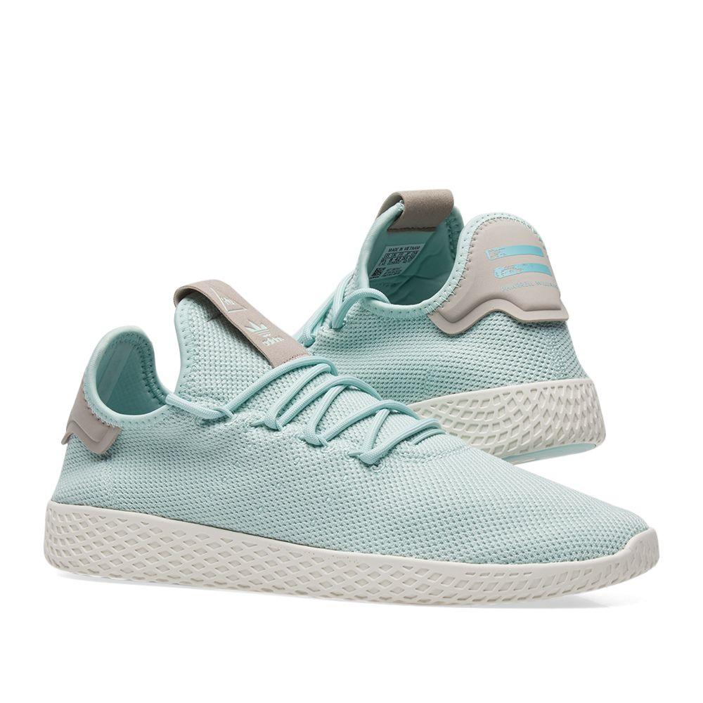 104b27b651a6 Adidas x Pharrell Williams Tennis HU W Ash Green   Ash Grey