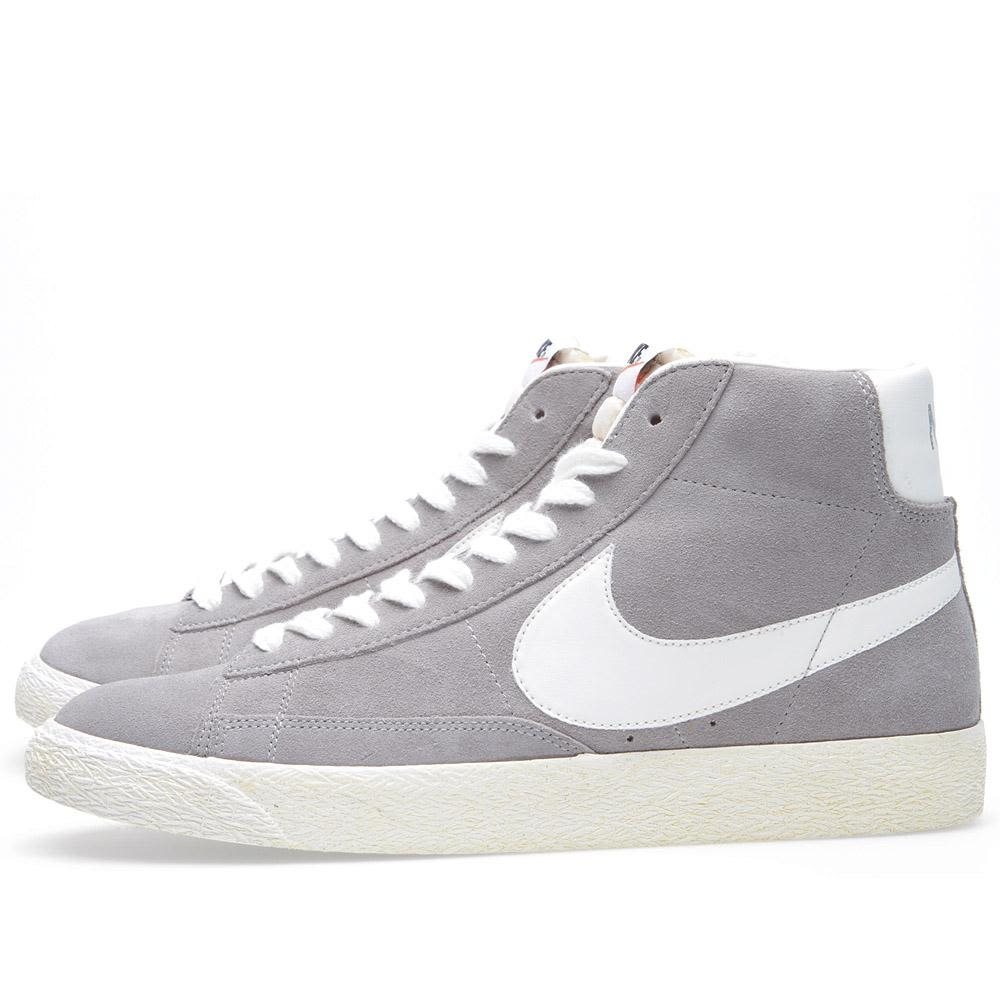 edc5c61f592b Nike Blazer Mid PRM Medium Grey   Sail