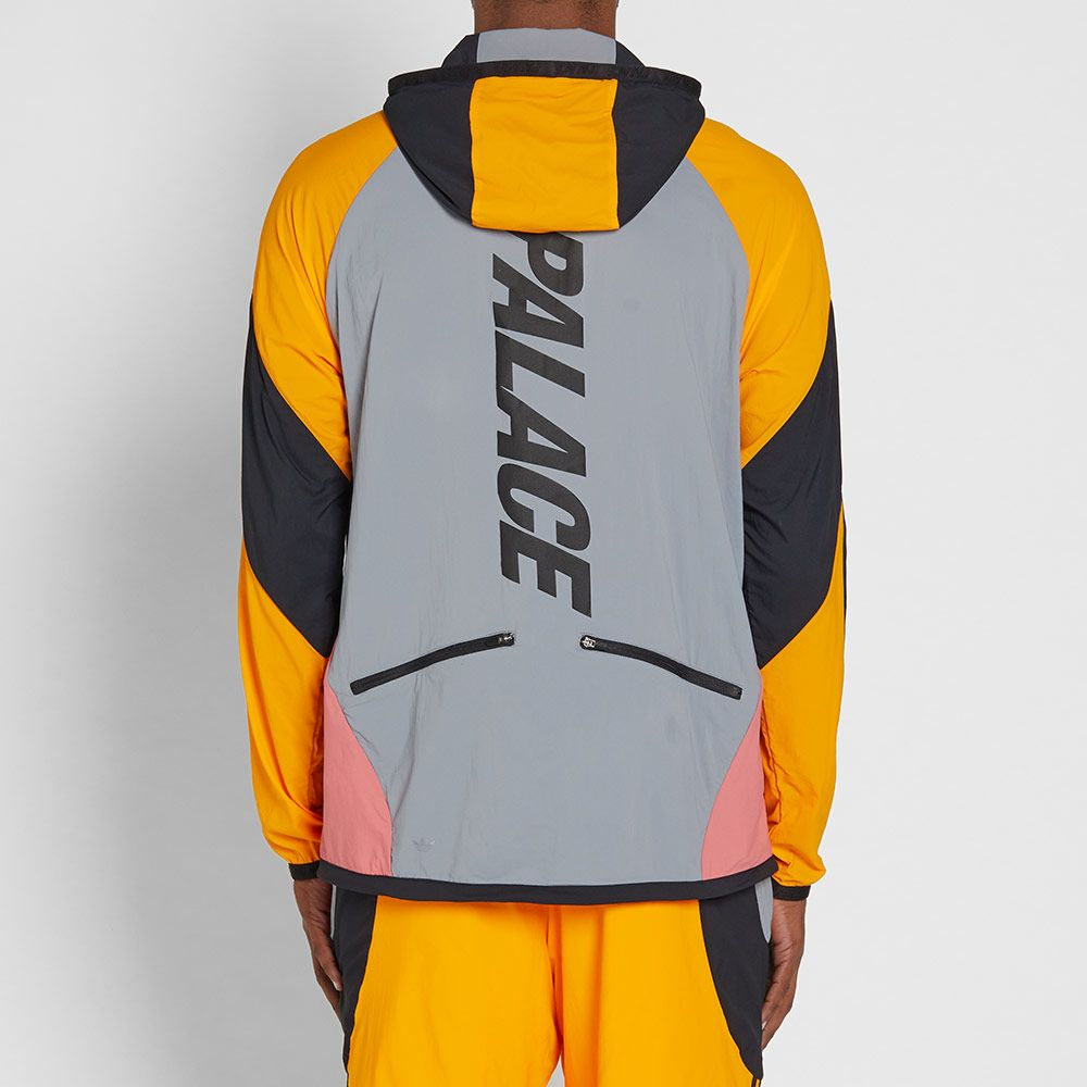 850ef38d9dd8 Adidas x Palace Hooded Jacket Grey   Lucky Orange