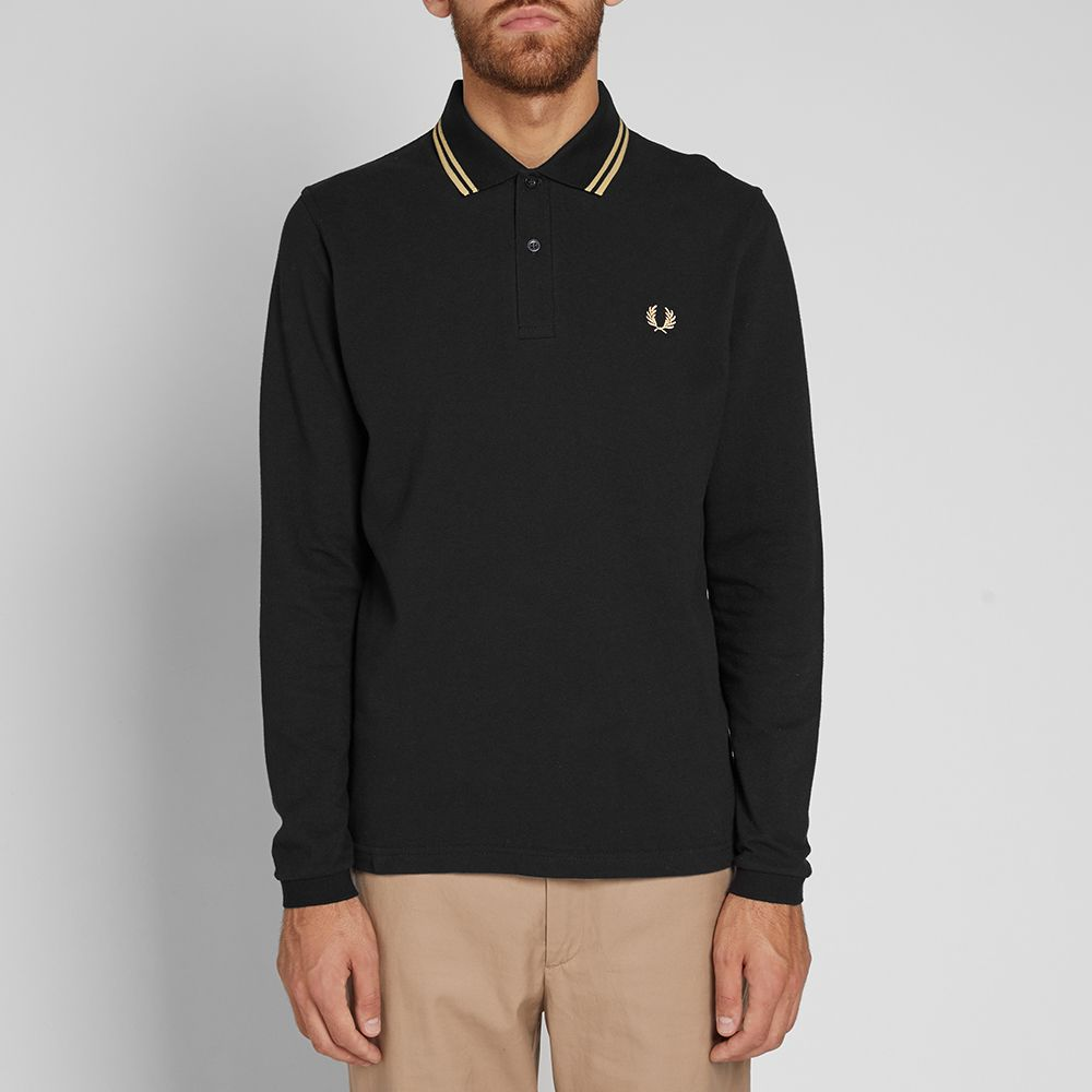 a0a477a81 Fred Perry Reissues Long Sleeve Original Twin Tipped Polo Black ...