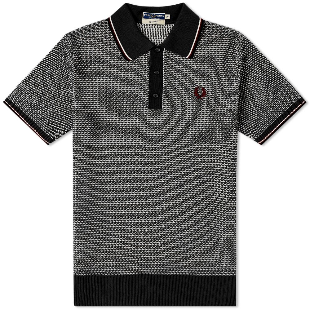 0cd3da0a homeFred Perry Reissue Two Colour Texture Knit Polo. image. image. image.  image. image. image. image