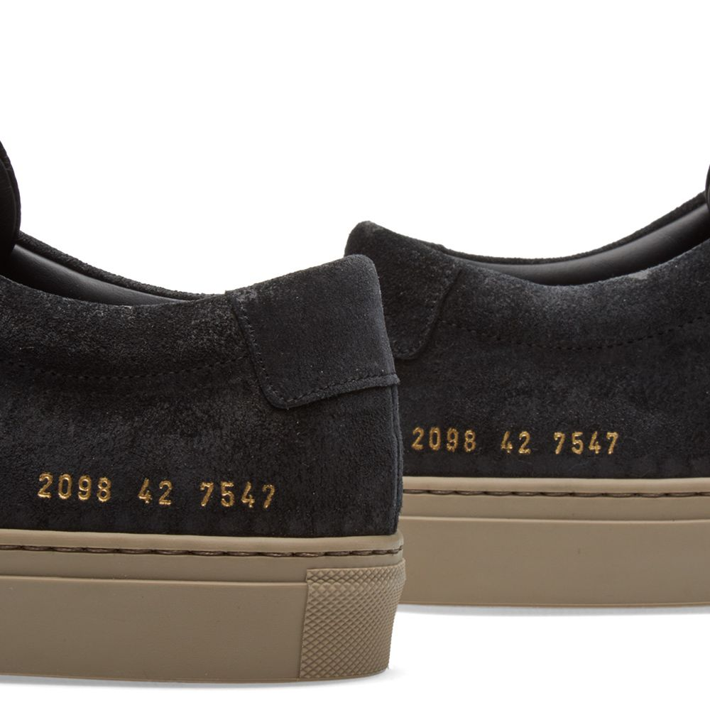 08faa3942c53 Common Projects Achilles Low Waxed Suede Black