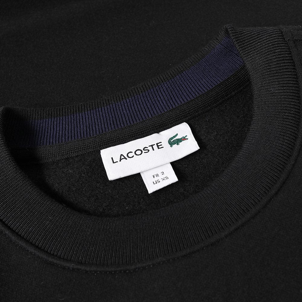 ab62f379bfc Lacoste Plain Crew Sweat Black