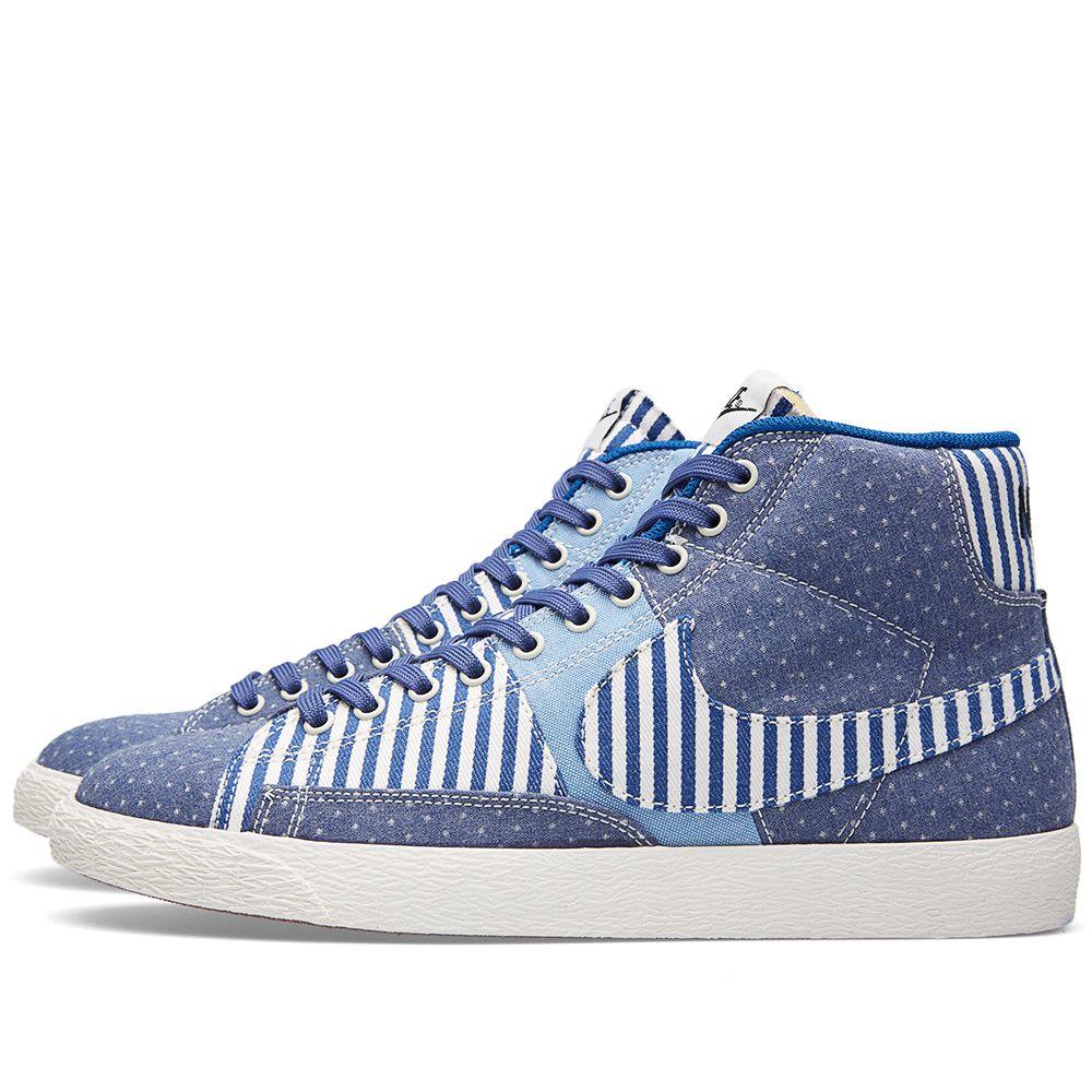 hot sale online d80e0 9b443 Nike Blazer Mid Premium Vintage QS Denim Patchwork Blue Lege