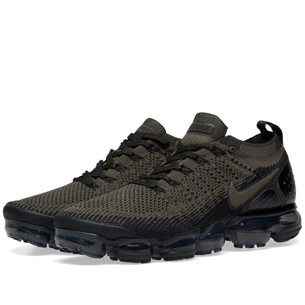 3f3486c7970 Nike Air VaporMax Flyknit 2 Cargo Khaki   Black