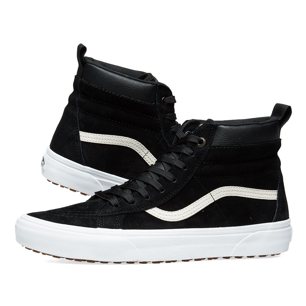 c18b15e8f2 Vans Leather Winterised Sk8-Hi MTE Black Night   True White