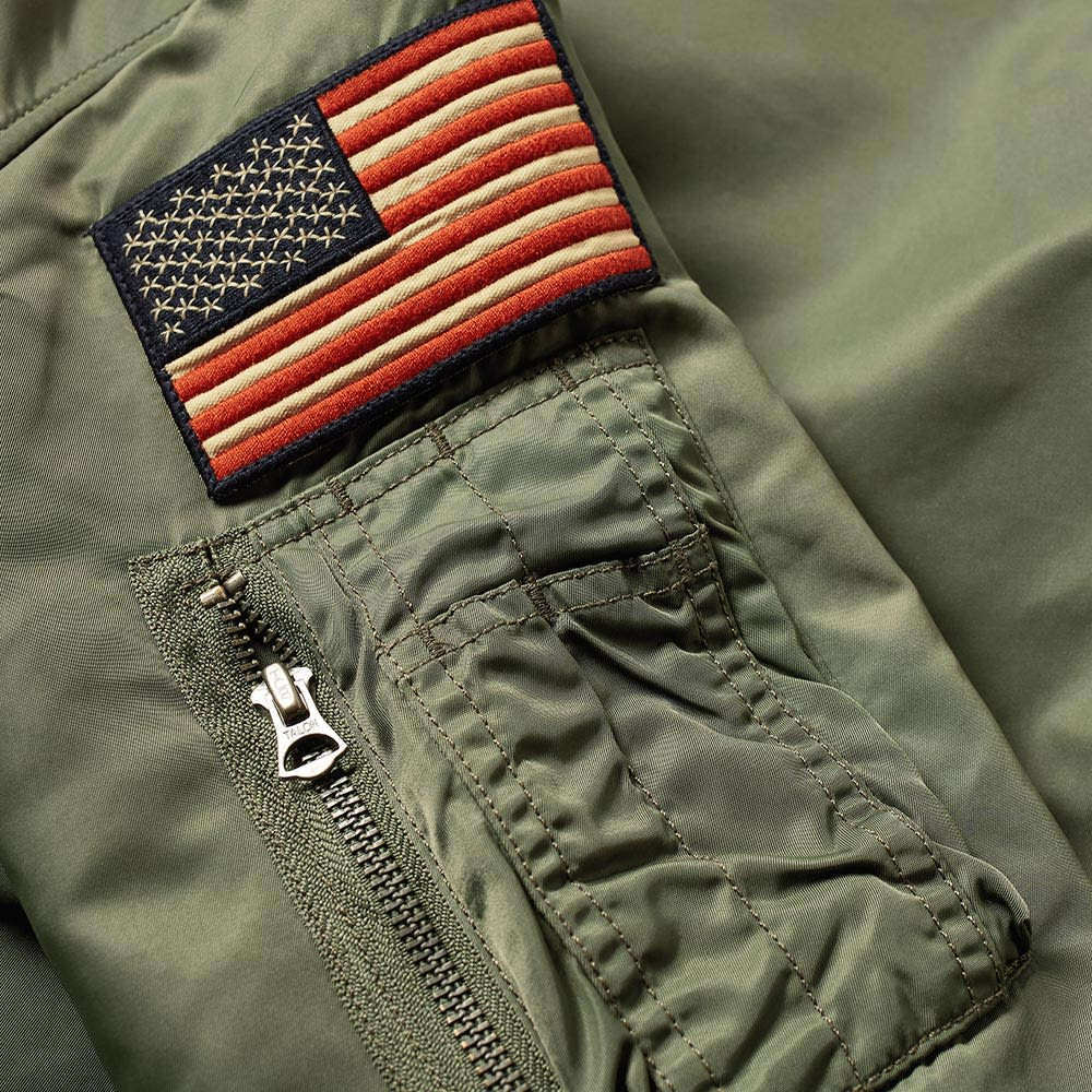 25b4cdca690 Polo Ralph Lauren Military Patches Bomber Jacket Bohemian Olive