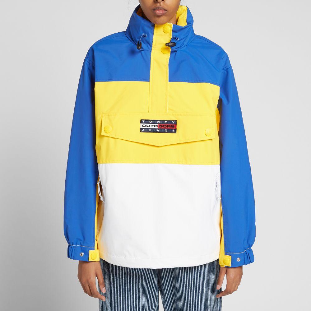 e221d7fa1 Tommy Jeans 6.0 Women's Colour Block Popover Jacket W6 Lemon Chrome ...