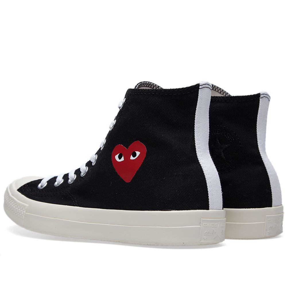 Comme des Garcons Play x Converse All Star Hi Black   Red  b64f3929a