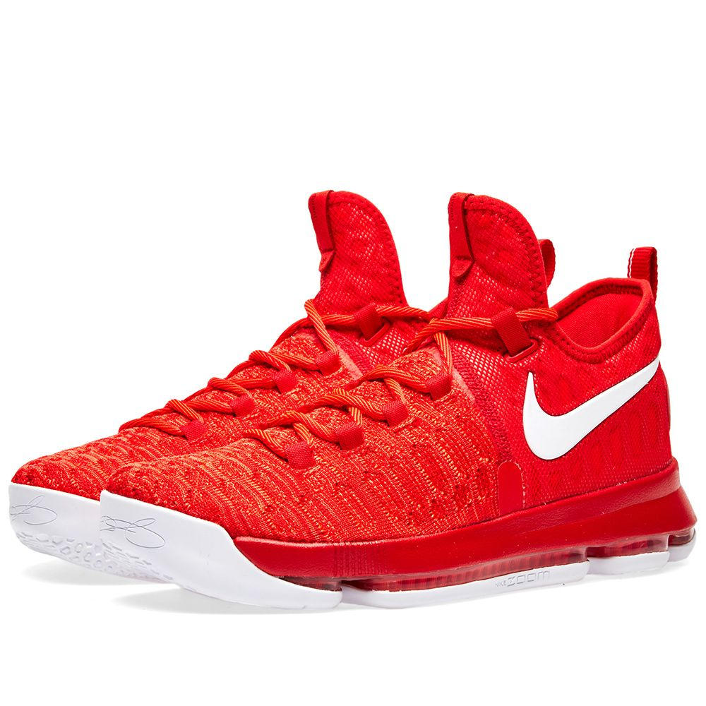 fcd4d6199164 Nike Zoom KD 9 University Red   White