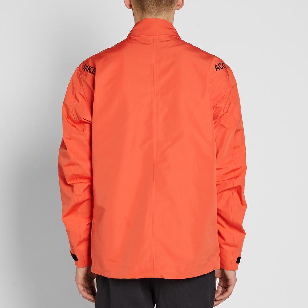 d0c720b287d9 NikeLab ACG Pullover Shell Jacket Team Orange   Black