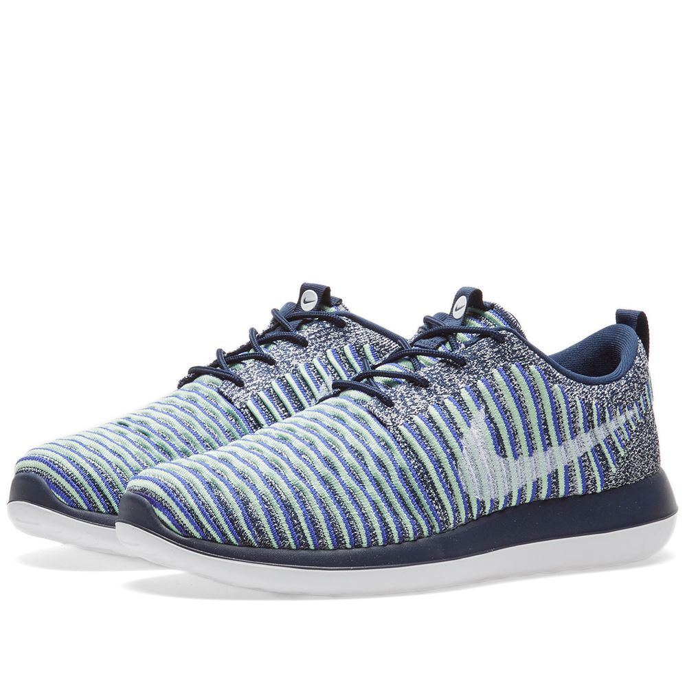 9e4fe682a4a3fd Nike W Roshe Two Flyknit. College Navy   Binary Blue. CA 165 CA 85. Plus  Free Shipping. image