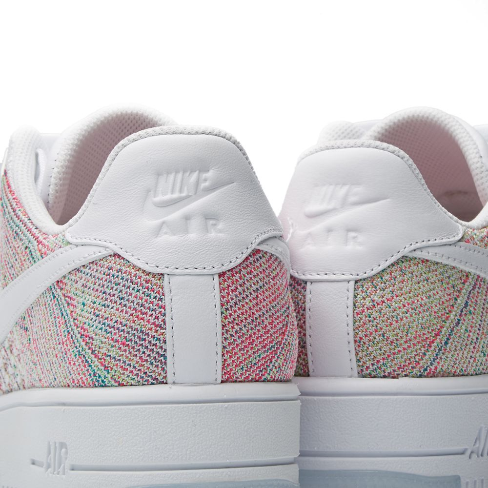 Nike W Air Force 1 Flyknit Low White   Radiant Emerald  8af4250052
